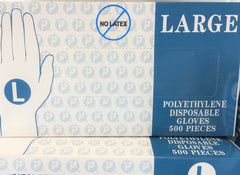 NEW, Inteplast Group GL-LG2K Embossed Polyethylene Disposable Gloves