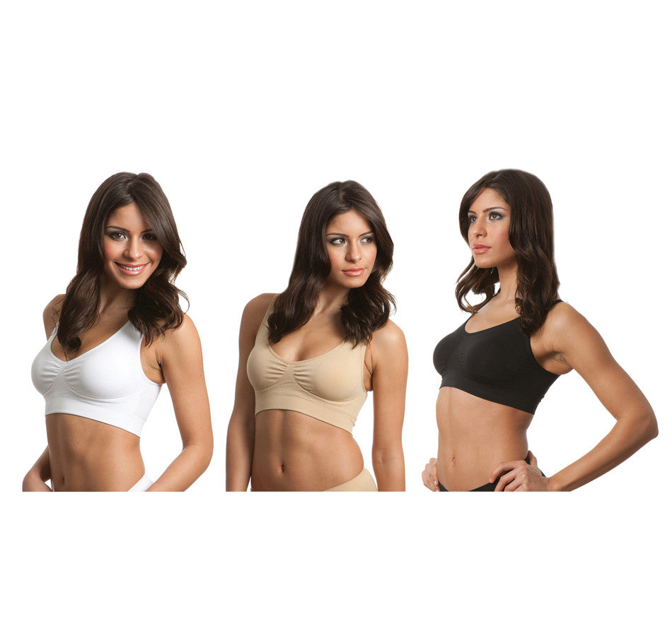 2 X Genie Classic Bra With Removable Pads White, Beige or Black