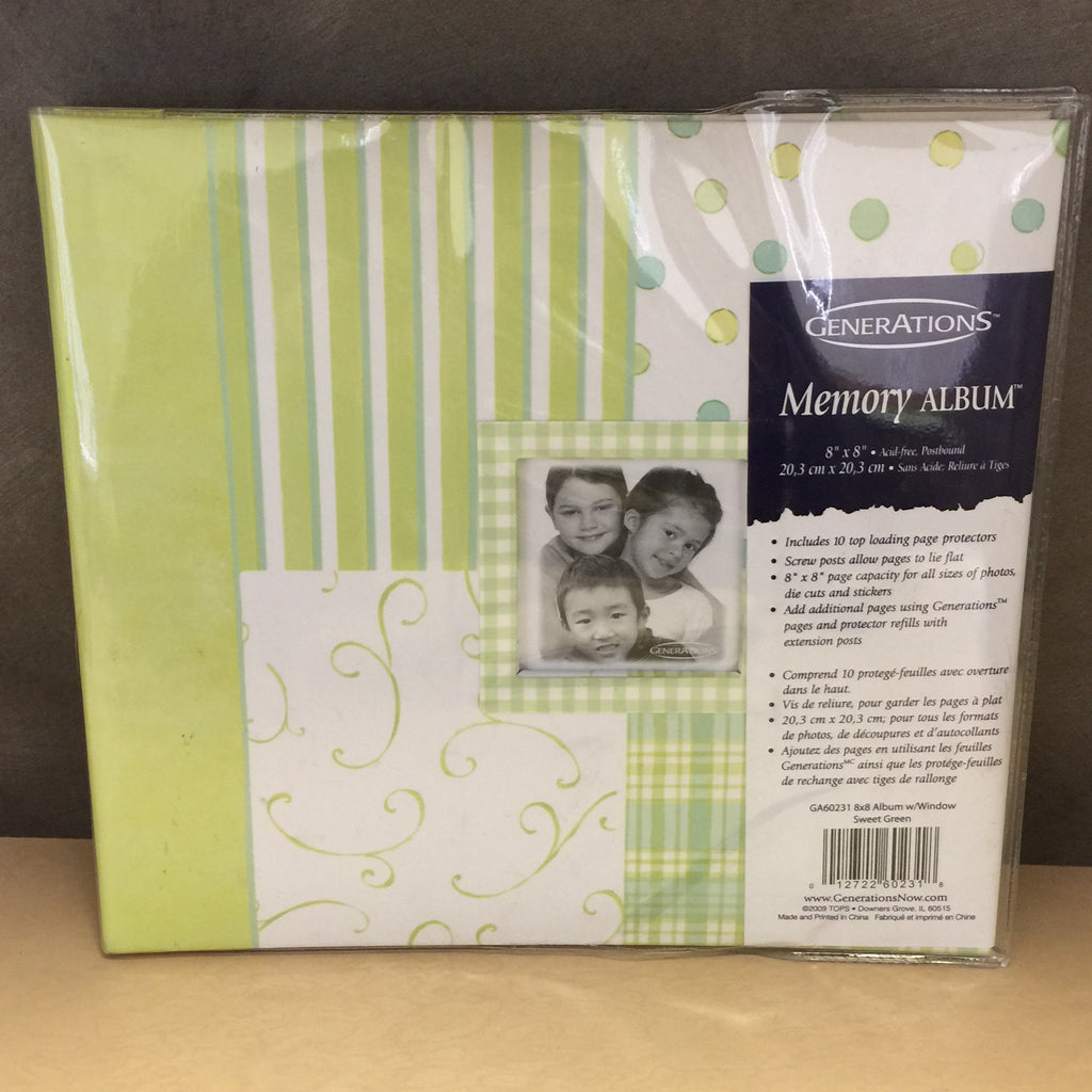 "NEW LOT of 400 PCS Generations Memory Album GA60231 8""x 8"""