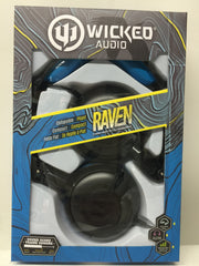 Wicked Audio Raven Headphones, WI-6000-CA Black/Blue