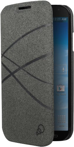 Cygnett CY1192CXFIB FiberFlip Case for Galaxy S4 - Retail Packaging - Charcoal