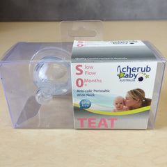 Cherub Anti-Colic Wide Neck Peristaltic Teats - 2 Pack BPA FRee