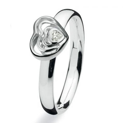 NEW Genuine Spinning Jewelry Stackable Silver Ring 714-05