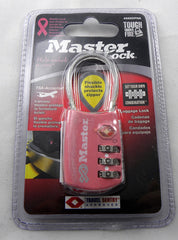 New Master Lock Pink Luggage Combination Padlock (1-1/8 inch) 4688DPNK