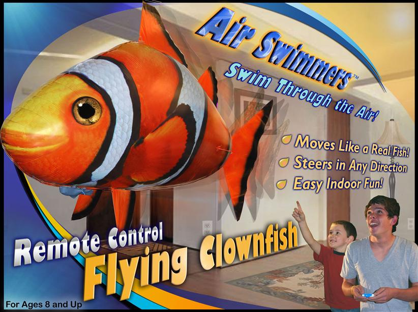 NEW, Air Swimmers Remote Controlled Flying Clownfish