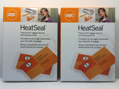 "2 X GBC Clear Laminating Pouches, Luggage Tag With Loop, 5 Mil- 2 1/2"" x 4 1/4"""