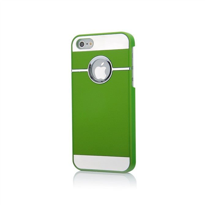 Case with chrome and metal for iPhone 5 - Green - LiquidationOutlet.ca