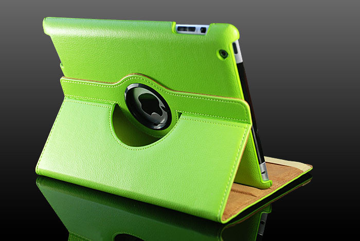 360 Ipad 2/3 Magnetic Leather Case- Green - LiquidationOutlet.ca