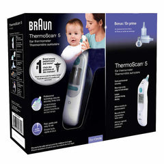New, Braun Thermoscan 5 Ear Thermometer + 20 Replacement Lens Filter