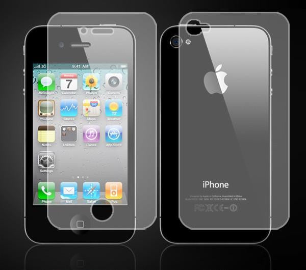 Iphone 4 / 4S Screen protector front & back - LiquidationOutlet.ca
