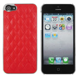 Deluxe Iphone 5 Leather Chrome Case- Red - LiquidationOutlet.ca