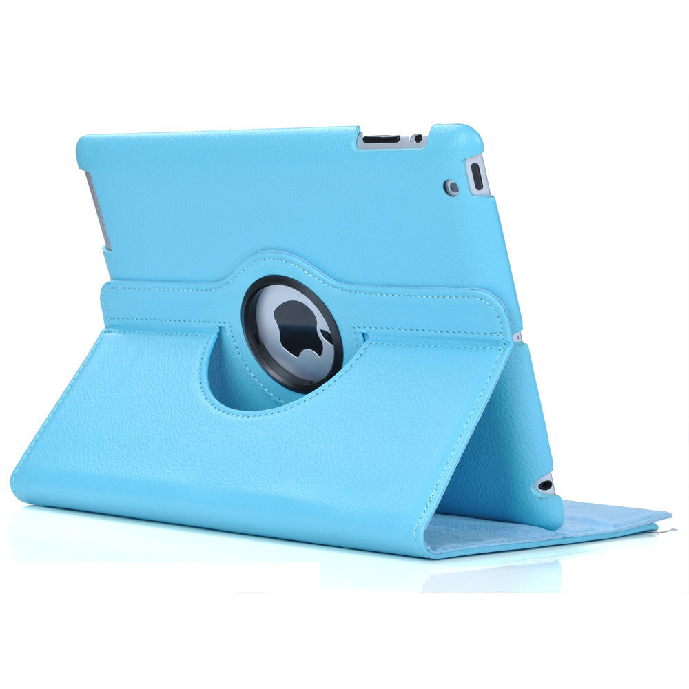 360 Ipad 5 Air Magnetic Leather Case- Light Blue - LiquidationOutlet.ca