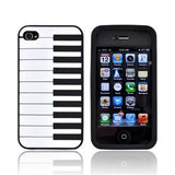 Piano Style Silicon Case Cover for iPhone 4/4S - Black - LiquidationOutlet.ca