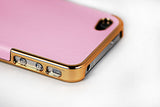 Leather Hard Back Cover Iphone 4/4S- Pink - LiquidationOutlet.ca