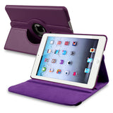 iPad Mini 360 Leaher Rotating Case Cover - Purple - LiquidationOutlet.ca