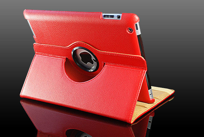 360 Ipad 5 Air Magnetic Leather Case- RED - LiquidationOutlet.ca