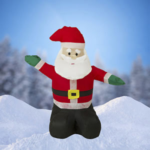 "NEW, 80cm/32"" Airblown Inflatable Santa Claus Christmas Decoration with Inside Lights"