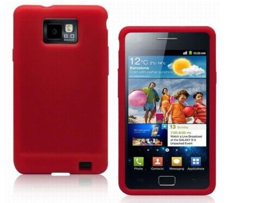 Silicone Case for Samsung Galaxy - Red - LiquidationOutlet.ca