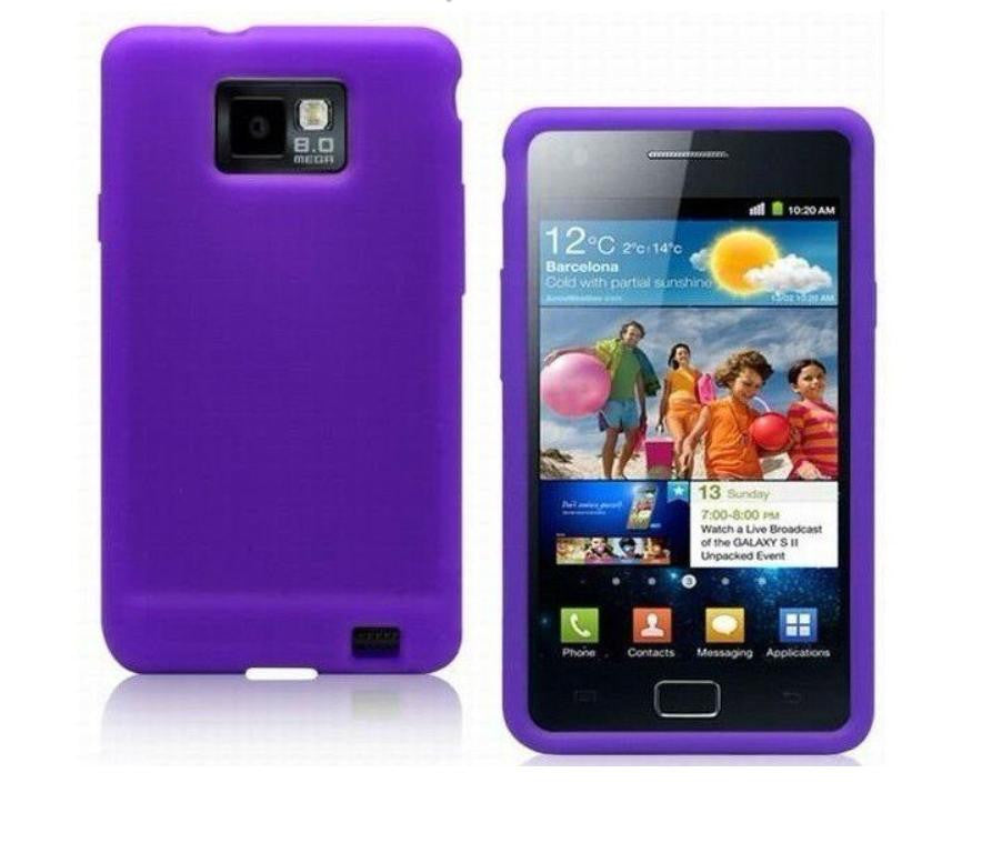 Silicone Case for Samsung Galaxy - Purple - LiquidationOutlet.ca