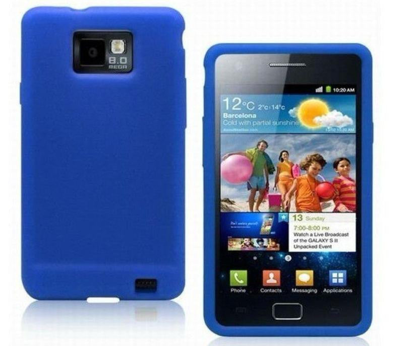 Silicone Case for Samsung Galaxy - Blue - LiquidationOutlet.ca