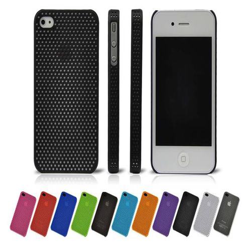 Skin Back Cover Case For Apple Iphone 4 / 4S - Black - LiquidationOutlet.ca