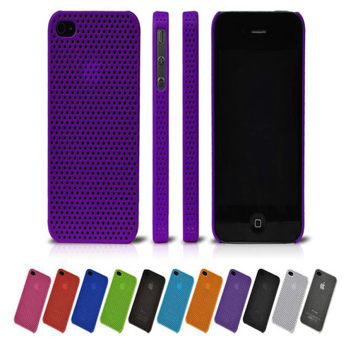 Skin Back Cover Case For Apple Iphone 4 / 4S - purple - LiquidationOutlet.ca