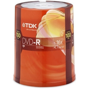 TDK 100-Pack 16X DVD-R in Spindle - LiquidationOutlet.ca