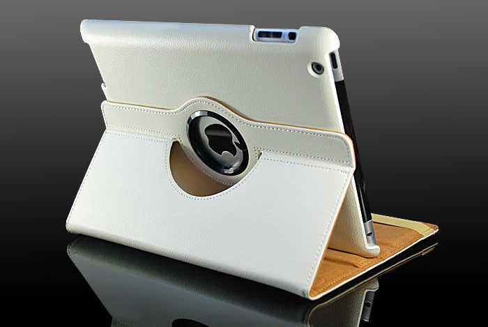 360 Ipad 2/3/4 Magnetic Leather Case- White - LiquidationOutlet.ca