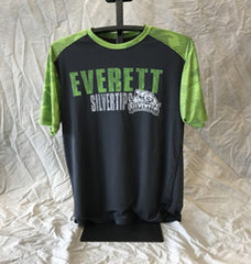 CI Sport Colorblock Grey/Green Poly T-Shirt