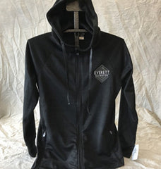 CI Sport Women's Black Full-Zip Poly Hood