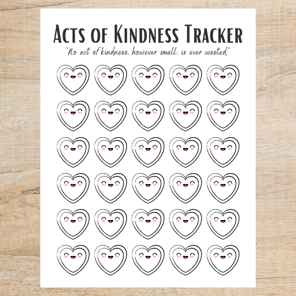 FREE Acts of Kindness Printable | Acts of Kindness Tracker - AAPC Publishing