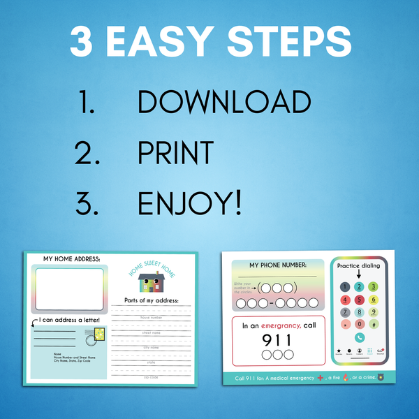 Life Skills Printable for Kids - AAPC Publishing