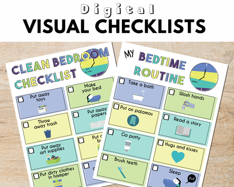 Visual Bedtime Routine Printable and Clean Bedroom Checklist - AAPC Publishing