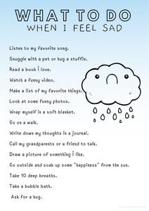 What To Do When I Feel Sad - Free Printable - AAPC Publishing