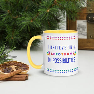 I Believe In A Spectrum Of Possibilities - Coffee Tea Mug - 11 oz. - Smiling Flower - AAPC Publishing