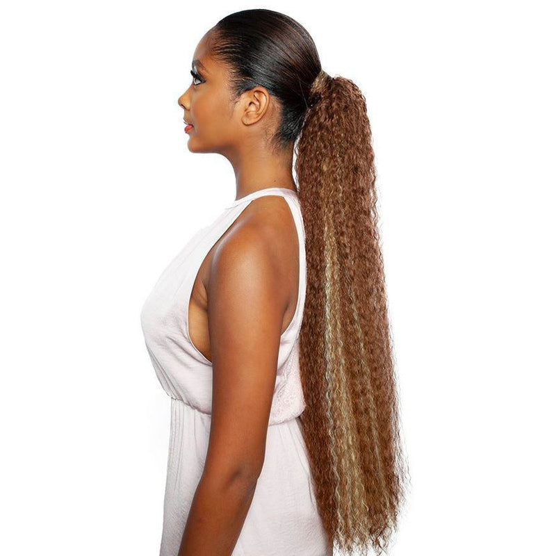 Mane Concept Synthetic Yellowtail Wrap & Tie Ponytail - Bey 30""