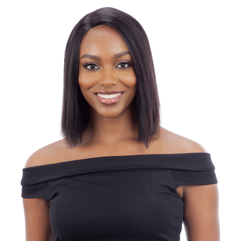 Saga 100% Human Hair Lace Front Wig - Sleek Remy Bob