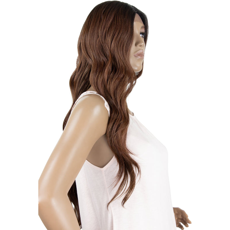 Bobbi Boss Human Hair Blend Swiss Lace Front Wig – MBLF210 Mora