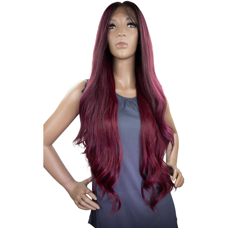 It's A Wig! 360 All-Round Human Hair Blend Deep Frontal Lace Wig – Adira
