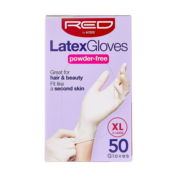 RED By Kiss Powder-Free Latex Gloves - XL 50CT