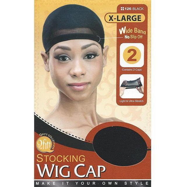 M&M Headgear Qfitt Stocking Wig Cap X-Large Black