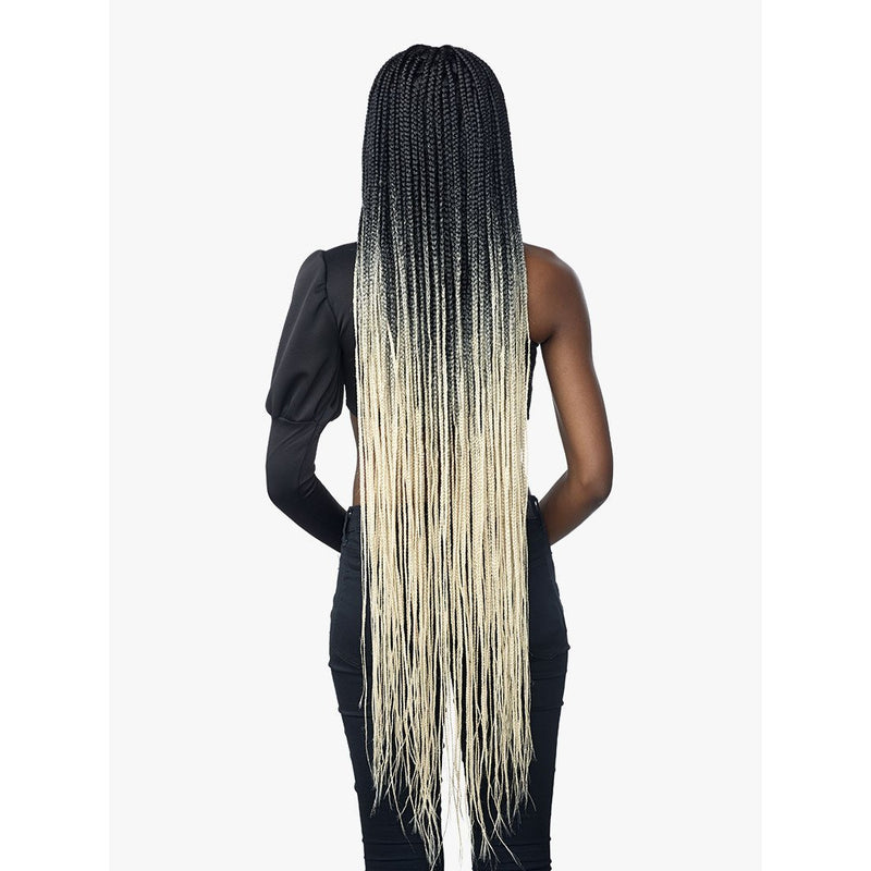 "Sensationnel Cloud 9 Synthetic 4"" x 4"" 100% Hand Braided Swiss Lace Front Wig - Box Braid 50"""