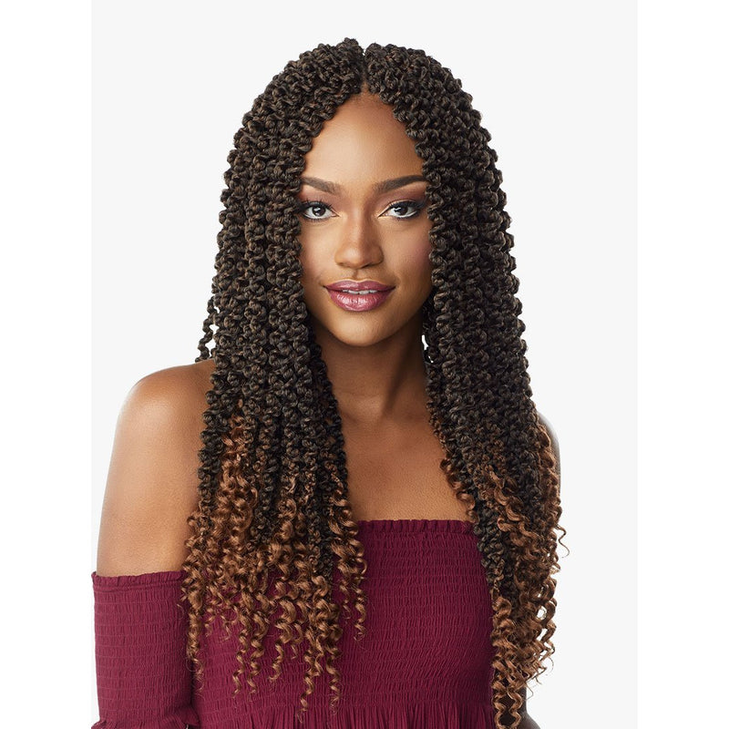 Sensationnel Synthetic Lulutress Pre- Looped Braids – 3X 3D Passion Twist 18""