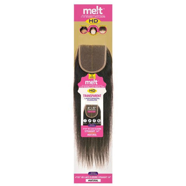 "Janet Collection 100% Virgin Human Hair 4"" X 5"" Melt HD Transparent Lace Frontal Closure - Straight"