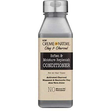 Cream Of Nature Clay & Charcoal Soften & Moisture Replenish Conditioner