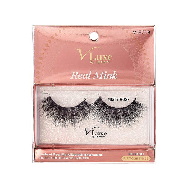V-Luxe i-envy By Kiss Real Mink Eyelashes - VLEC09 Misty Rose