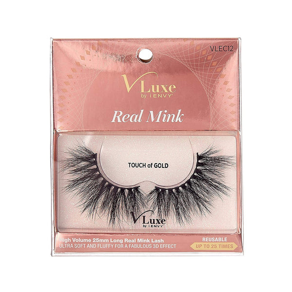 V-Luxe i-envy By Kiss Real Mink Eyelashes - VLEC12 Touch Of Gold