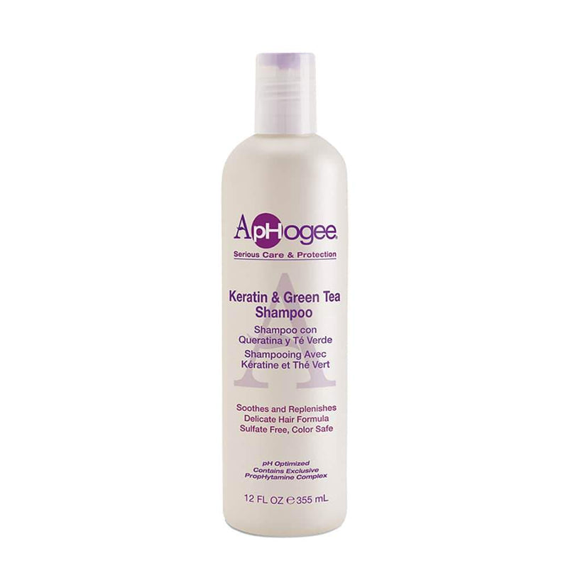 ApHogee Serious Care & Protection Keratin & Green Tea Shampoo 12 OZ