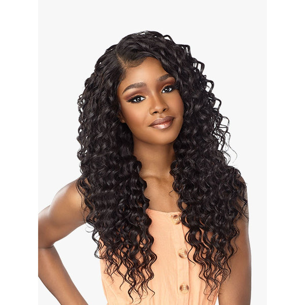 Sensationnel Boutique Bundles Human Hair Blend 3pc Weave + 4 x 4 Lace Closure - Deep