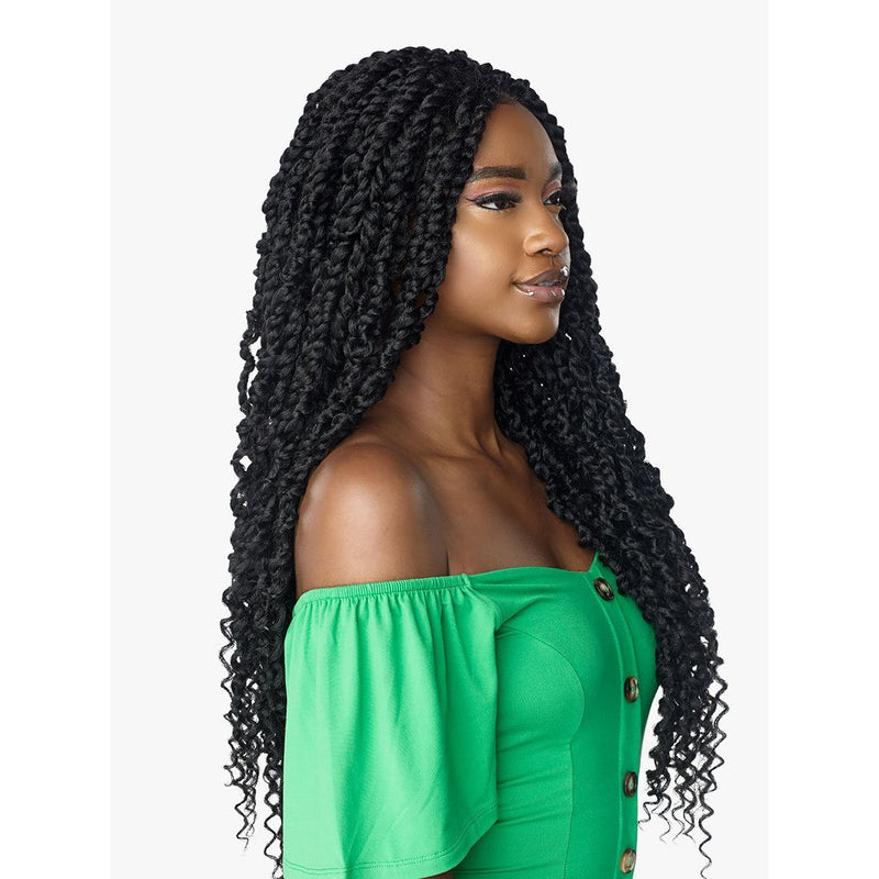 "Sensationnel Cloud 9 Synthetic 4"" X 4"" 100% Hand Braided Swiss Lace Front Wig - Passion Twist 28"""